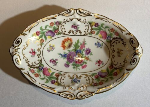 HAMMERSLEY English Bone China DRESDEN SPRAYS Oval Cookie Plate DISH Mints Candy