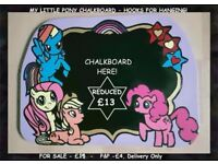 PERFECT FOR CHRISTMAS HANDMADE MDF MY LITTLE PONY BLACKBOARD/PLAQUE, READY TO HANG!