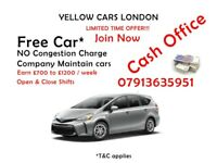 PCO DRIVER * PRIVATE HIRE * 100% FREE CAR * NO Congestion Charge * CASH OFFICE *