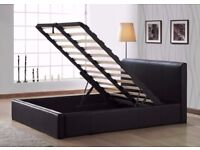 FREE DELIVERY SINGLE OTTOMAN STORAGE LEATHER BED AND MATTRESS MODERN AND LOW PRICE BED