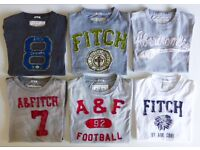 GENUINE ABERCROMBIE & FITCH MENS T-SHIRT MUSCLE FIT SIZE MEDIUM & LARGE £14 EACH OR ALL 6 FOR £70