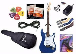 Value Package Electric Guitar with amp, gig bag, strap, capo, strings, picks. Best Gift elec guitar