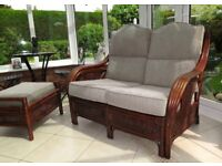 Conservatory furniture - settee, armchair & footstool in excellent condition
