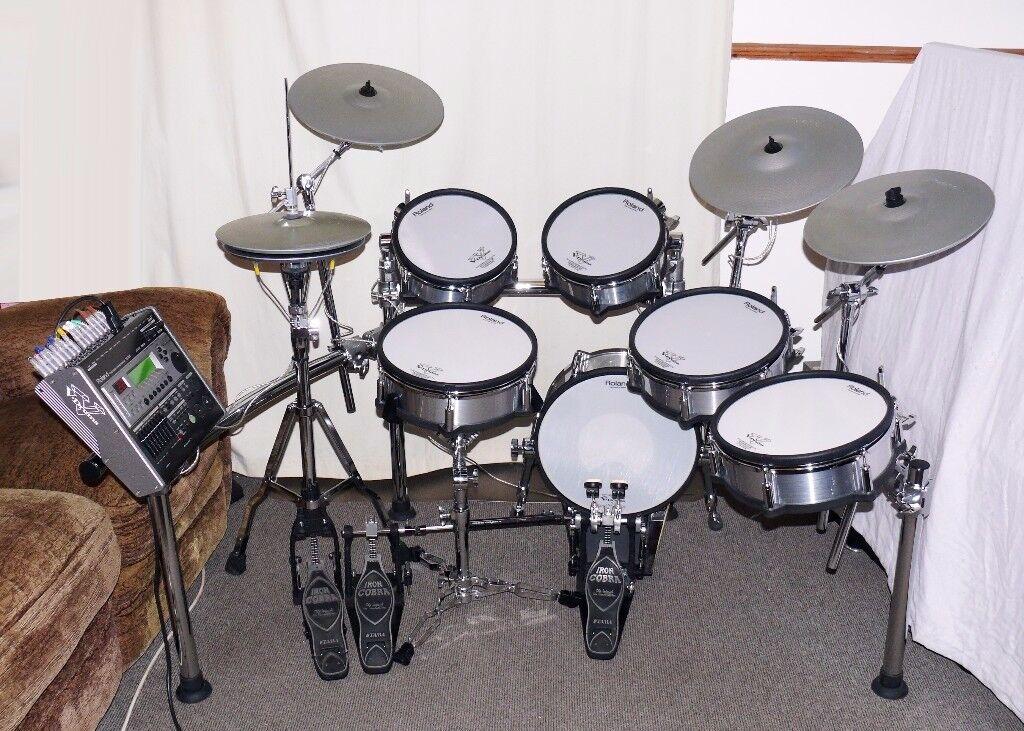 roland td 20kx pro electronic v drums kit silver pre td30 td50 9 vex packs superb in brentford. Black Bedroom Furniture Sets. Home Design Ideas