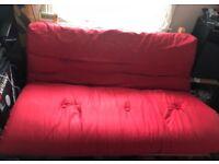 Red Argos futon sofa bed