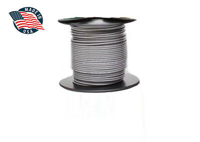 100ft Milspec High Temperature Wire Cable 22 Gauge Gray Tefzel M2275916-22-8