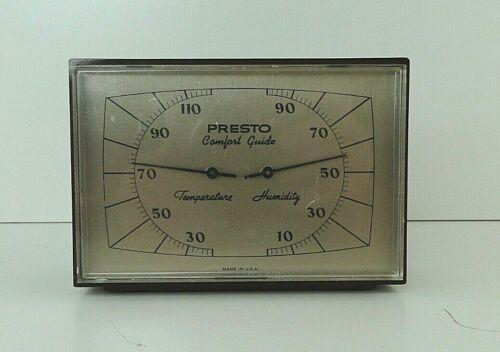 Presto Comfort Guide Temperature and Humidity Barometer Mid Century modern