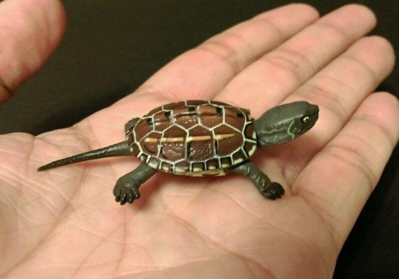 RARE Kaiyodo Choco Q Pet Animal 4 Baby Japanese Pond Turtle Figure