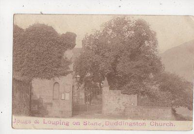 Jougs & Louping On Stane Duddingston Church Edinburgh RP Postcard 645b