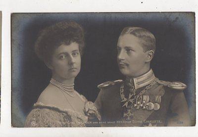 Prinz Eitel Friedrich & Braut Sophie Charlotte RP Postcard Germany Royalty 040b