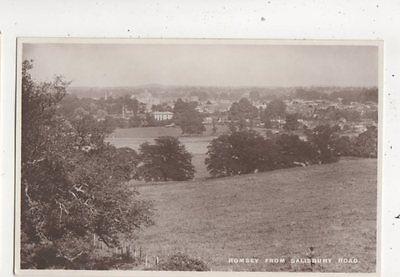 Romsey From Salisbury Road Hampshire Vintage RP Postcard 645b