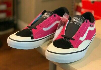 Vans TNT Advanced Prototype SKATE SHOES size 10 Black Magenta