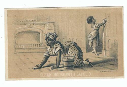Trade Card, Maids Cleaning House With Sapolio