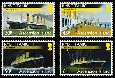 Ascension Is 2012 Titanic 4v set MNH