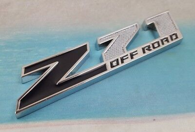 GM Z71 OFF ROAD Emblem Badge Chevrolet Silverado Sierra Tahoe Black Silver