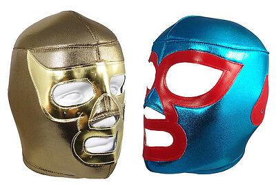 2pk NACHO LIBRE & RAMSES (pro-fit) Adult Lucha Libre Wrestling Mask Costume Set](Wrestling Costumes Adults)