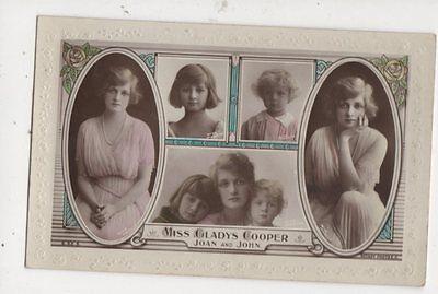 Gladys Cooper Actress Joan & John 1920 RP Postcard 531a (Joan Cooper)