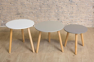 Scandinavian Set Of Three Tables Small Medium Large Coffee Table Living Room