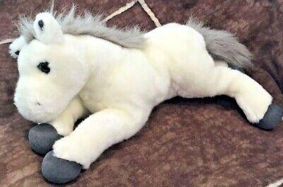 "2006 Breyer White Gray 007382 15"" Horse Pony Marshmallow Plush Stuffed Toy"