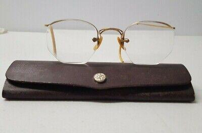 Antique 12K Gold Filled Eyeglasses with Case   (Grunge Eye Glasses)
