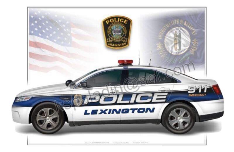 Lexington Kentucky Police Ford Taurus Cruiser Poster Print