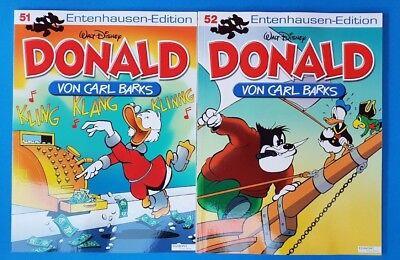 Donald Duck von Carl Barks Entenhausen - Edition Band 51 + 52 ungelesen 1A