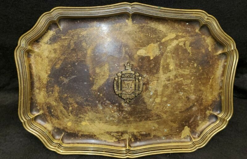 US Naval Academy copper plate antique