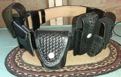 Gould Goodrich Police Security Hunting 7 Holster Belt Size 36
