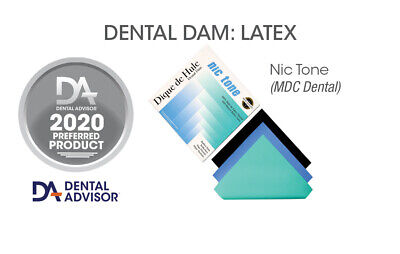 2 Boxes Of Nictone Professional Latex Dental Dam