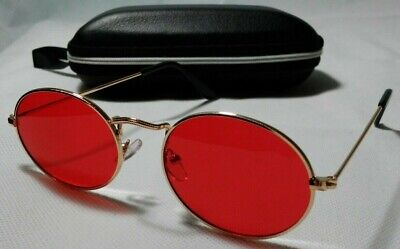 Daredevil Matt Murdock Style Sunglasses Gold Vintage W/ EVA Case Women Mens (Womens Sunglasses Case)