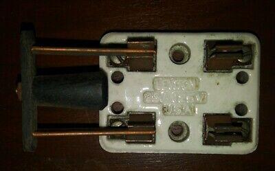 Vintage Leviton White Porcelain 25 Amp 125v Double Pole Knife Switch