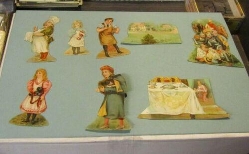 Lion Coffee Die Cut Victorian Trade Card Lot Humpty Dumpty Six Pence 5 People