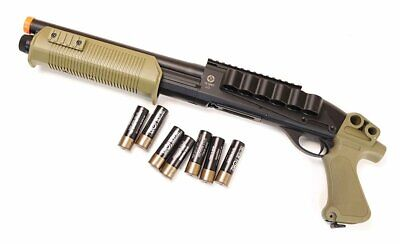 Elite Force Tactical Force Tri-Shot Airsoft Shotgun 6mm Black / Tan Extra Shells