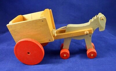 Donkey Pull Toy - Antique Vintage Pull toy Wood Wooden Donkey German Original