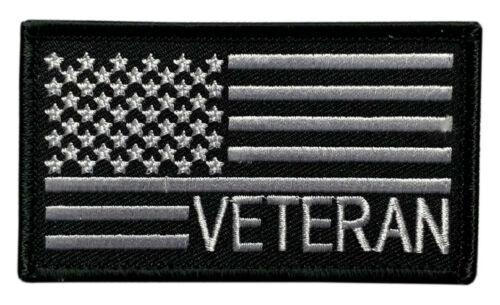 "Veteran USA Flag Tactical Patch [""Velcro Brand"" Fastener - 3.5 X 2.0 V-8]"