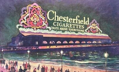 CHESTERFIELD Cigarettes Worlds Largest Electric Sign Atlantic City NJ Postcard