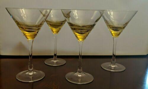 4 Yellow Martinis Thread unusual unique    1220uu