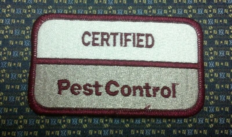 CERTIFIED PEST CONTROL Iron or Sew-On Patch