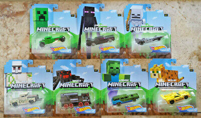 HOT WHEELS Minecraft Character Cars Creeper Enderman Skeleton Spider Zombie 7