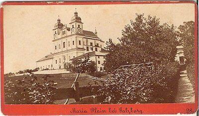 CDV photo Historische Ansicht Maria Plain bei Salzburg - 1880er
