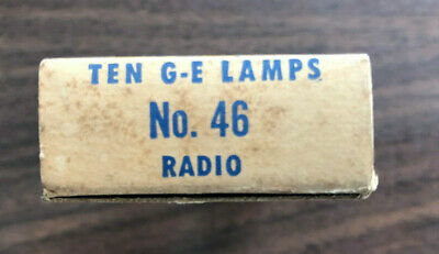 Wedge Base GE193 Pack Of 10 General Electric Miniature Lamp light Bulbs NOS