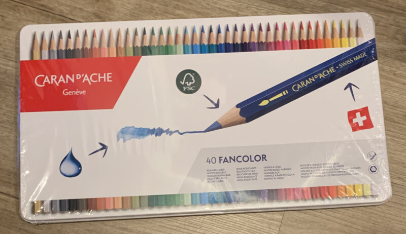 Caran D'ache Colored Pencils 40 Set - New in sealed package