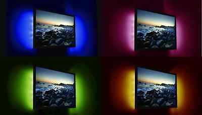 TV USB REMOTE CONTROL LED BACKLIGHT 2 X 80 cm FLEXI STRIP LIGHTS 5v PC MONITOR