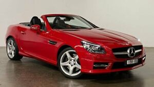 2014 Mercedes-Benz SLK-Class R172 SLK250 7G-Tronic + Red 7 Speed Sports Automatic Roadster South Melbourne Port Phillip Preview