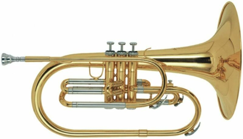 Stagg Marching Mellophone with Case - Key of F - WS-MB225