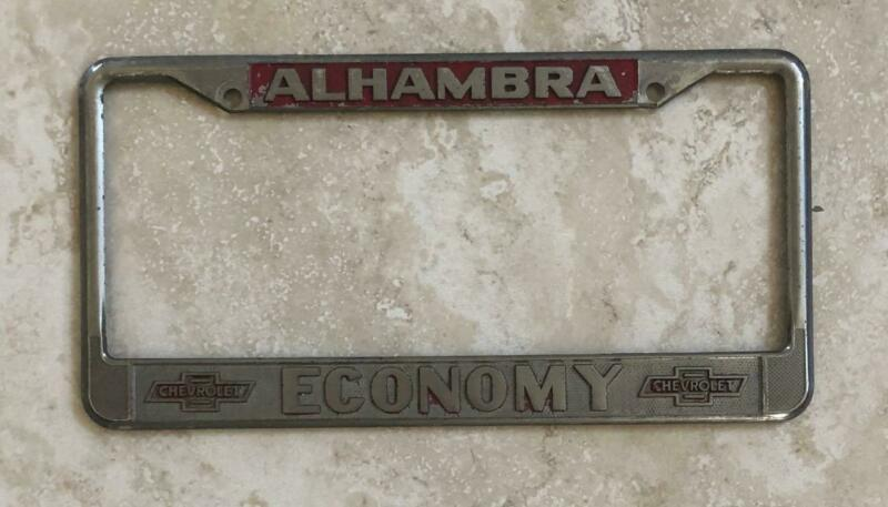 Economy Chevrolet Dealer Alhambra, CA Original License Plate Frame