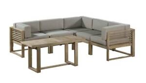 6 PIECE CASUAL OUTDOOR LOUNGE DINING SETTING