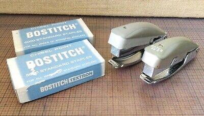 2 Vintage Bates 88p Staplers Staples -- Hand Tacker