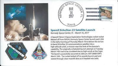 2017 Spacex Echostar 23 Communications Satellite Launch Kennedy Sc 16 March