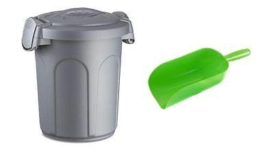 Futtertonne + Deckel + Futterschaufel Futterbox Futteraufbewahrung verschließbar